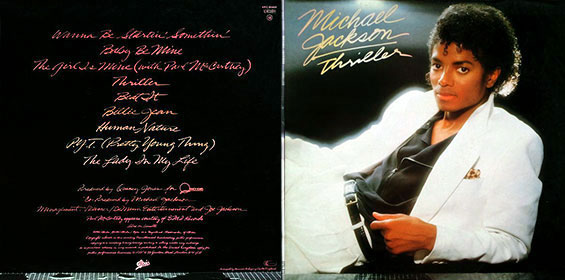 THRILLER LP by Epic – gatefold sleeve, back and front sides