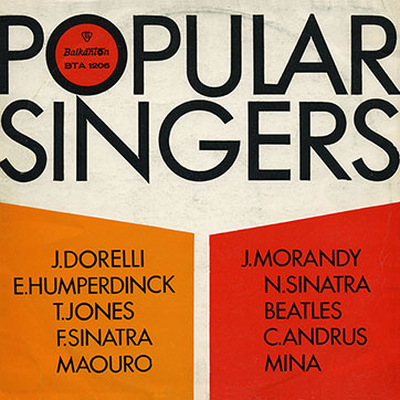 Various Artists (featuring The Beatles, Tom Jones) – POPULAR SINGERS (Balkanton ВТА 1206) - sleeve (var. 8), front side